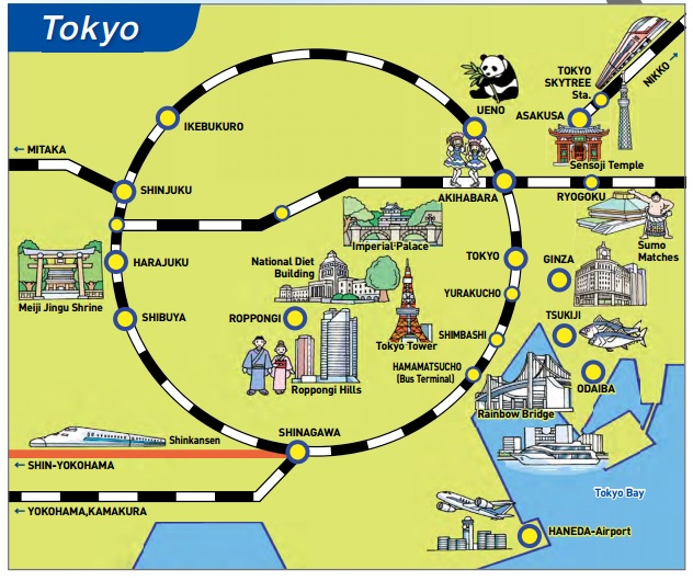 Accommodations in Japan – Tourist Map Tokyo