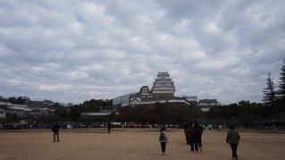 Himeji castle from a far