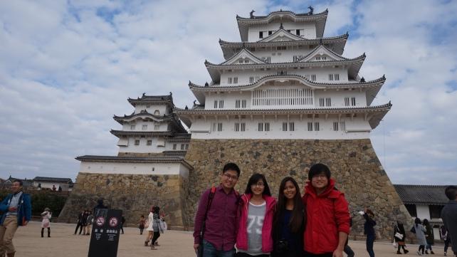 Himeji castle up close